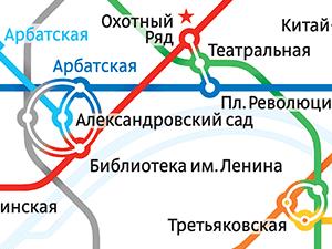 Схема Московского метро - Ивантеевка